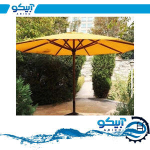 چتر ویلایی – چتر باغی پایه وسط چوبی