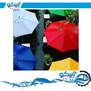 چتر ویلایی – چتر باغی پایه وسط 3 متری پایه چوبی