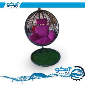صندلی ریلکسی، مدل گرد، بافت کنفی پنجره ای
