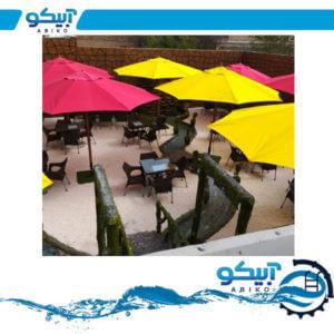 چتر کنار استخری چتر باغی پایه وسط فلزی