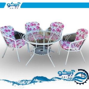 میز و صندلی فلزی ویلایی، طرح دلوین