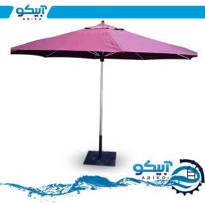 چتر باغی ضد آب، پایه استیل، قطر 4 متر