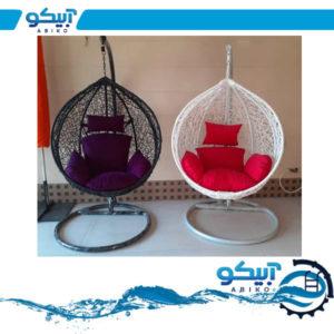 صندلی ریلکسی مدل اشکی بافت پلی اتیلن UV